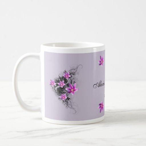 Clematis Flower keepsake mug