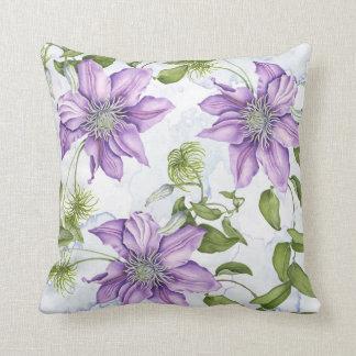 Clematis flower pillow