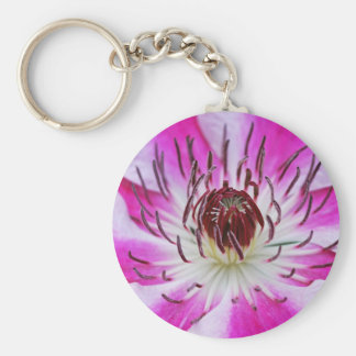 Clematis Flowers Flower Plant Garden Keychains
