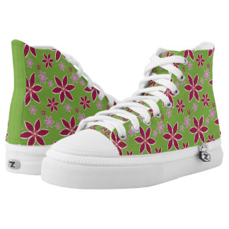 Clematis: Flowers High Top Shoes