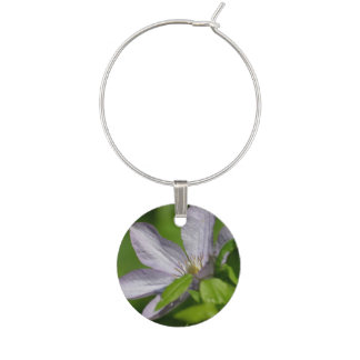 Clematis Flowers Wine Charms