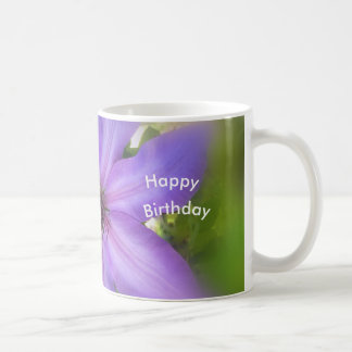 Clematis Happy Birthday Mug