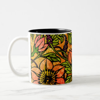 Clematis It Is! (Two-Tone Ceramic Mug) Two-Tone Coffee Mug