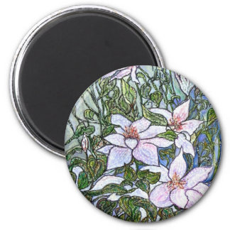 Clematis . fridge magnets