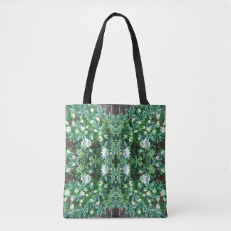 Clematis MirrorB Flower Fractal Tote Bag