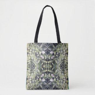 Clematis MirrorC Flower Fractal Tote Bag