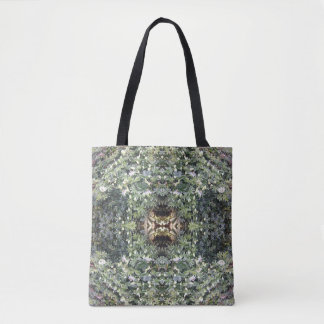 Clematis MirrorD Flower Fractal Tote Bag