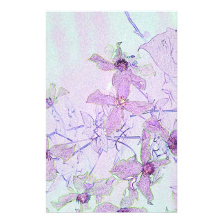 Clematis Custom Stationery