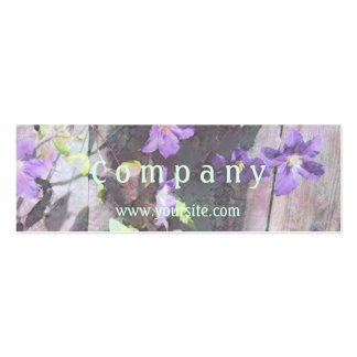 Clematis Watercolor Business Card Template