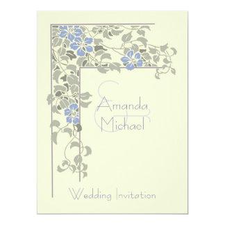 Clematis wedding invitation