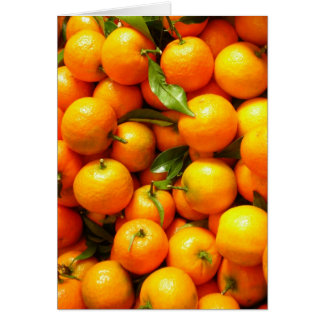 Clementines at Nice Fruit Market, France Card