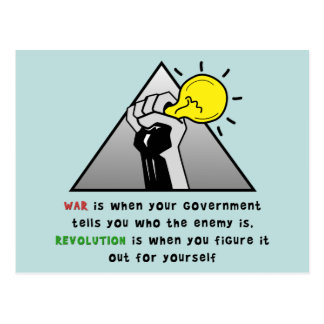 Clench fist solidarity against government tyranny postcard