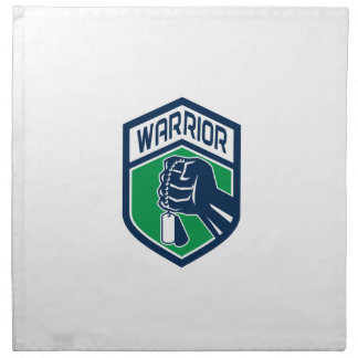 Clenched Fist Dogtag Warrior Crest Retro Napkin