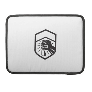 Clenched Fist Holding Dogtag Crest Retro Sleeve For MacBooks