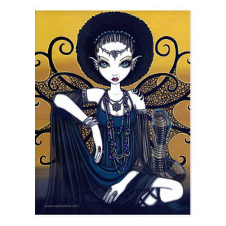 """Cleo"" Postcard Egyptian Cobra Feary Goddess"