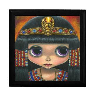 Cleopatra Doll with Jeweled Snake Headpiece Trinket Box