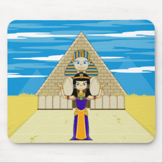 Cleopatra & Great Sphinx of Giza Mouse Pad