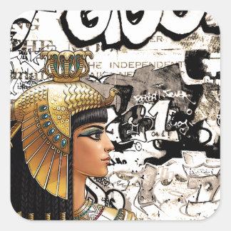 Cleopatra Square Sticker