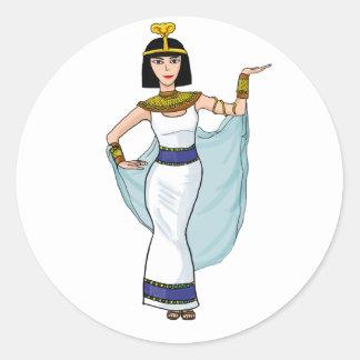 Cleopatra the Pharaoh of Egypt Round Sticker