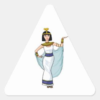 Cleopatra the Pharaoh of Egypt Triangle Sticker