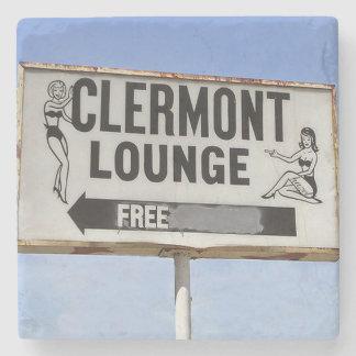 Clermont Lounge Atlanta Landmark Marble Coaster