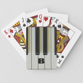 Clés de piano avec l'initiale faite sur commande jeu de cartes