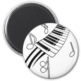 Clés musicales magnet rond 8 cm