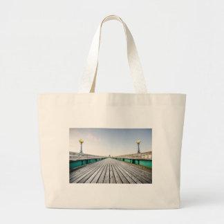 Clevedon Pier Large Tote Bag