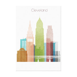Cleveland art skyline canvas print