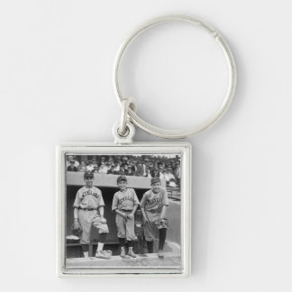 Cleveland Ball Boys, 1922 Silver-Colored Square Keychain