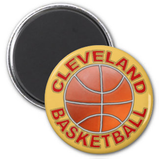 Cleveland Basketball Round Magnets. 2 Inch Round Magnet