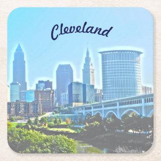 Cleveland Blue Morning Paper Coaster