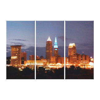 Cleveland Blues Skyline (Panels) Canvas Print