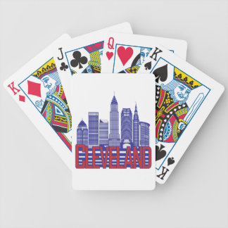 Cleveland City Colors Bicycle Playing Cards