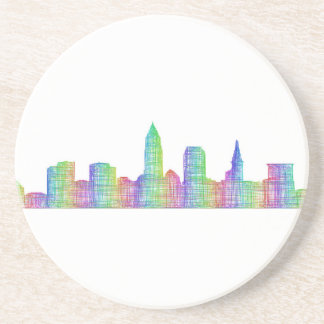 Cleveland city skyline coaster