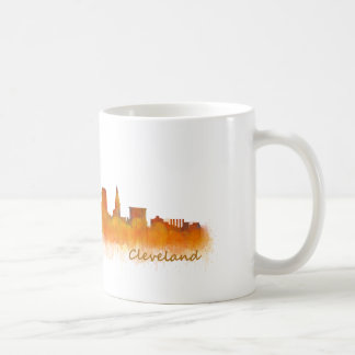 Cleveland City watercolor U.S. skyline Coffee Mug