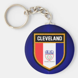 Cleveland Flag Keychain