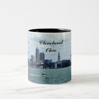 CLEVELAND FROM LAKE ERIE mug