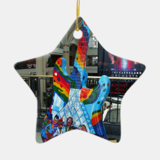 Cleveland Guitar II Ceramic Star Ornament