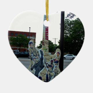 Cleveland Guitar VI Ceramic Heart Ornament