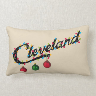 Cleveland Holiday Lights pillow