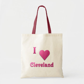 Cleveland -- Hot Pink Tote Bag
