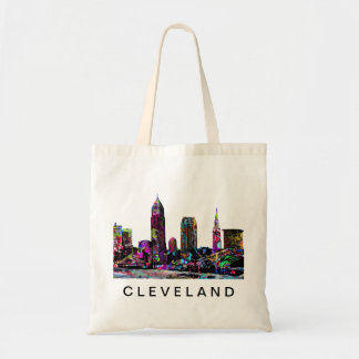 Cleveland in graffiti tote bag