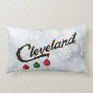 Cleveland in Lights.. with SNOW! Pillow