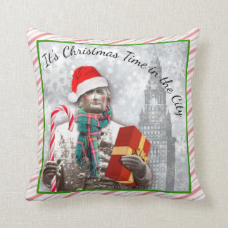"Cleveland ""It's Christmas Time in the City"" PILLOW"