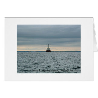 Cleveland Ledge Lighthouse, Buzzards Bay MA. Card