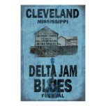 Cleveland Mississippi Blues Poster
