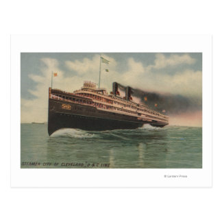 Cleveland, OH - Steamer City of Cleveland Postcard