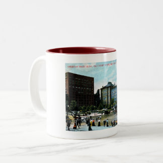 Cleveland, Ohio, 1907 View, Vintage Two-Tone Coffee Mug