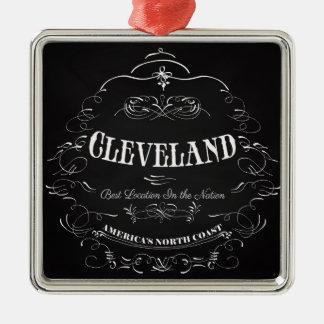 Cleveland Ohio - America's North Coast Silver-Colored Square Ornament